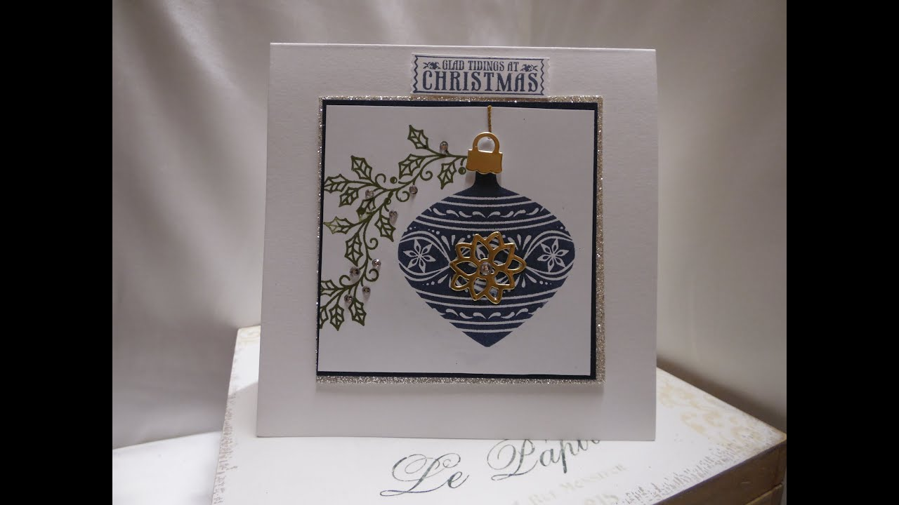 Stampin Up Embellished Ornaments Christmas Card With