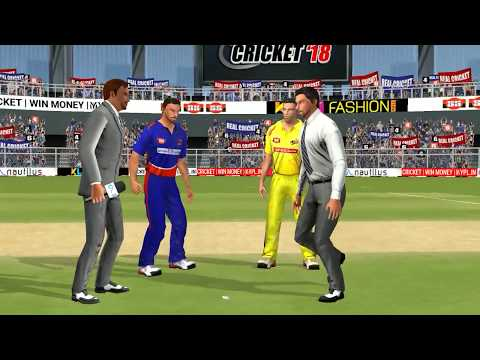 18th May IPL 11 Delhi Daredevils Vs Chennai Super Kings Real cricket 2018 mobile Gameplay