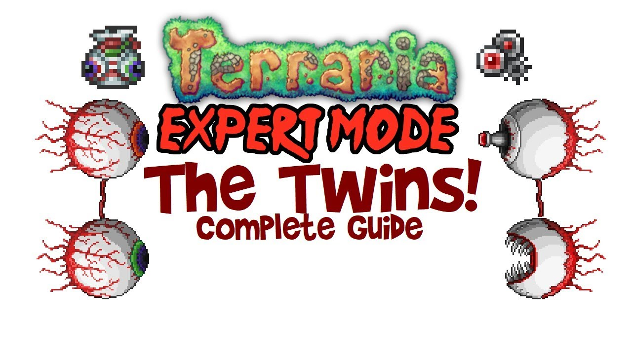 Terraria Twins Expert Mode Guide (& Normal too! All Drops,  Mage/Summoner/Melee/Ranger)