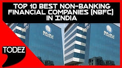Top 10 Best Non Banking Financial Companies NBFC in India