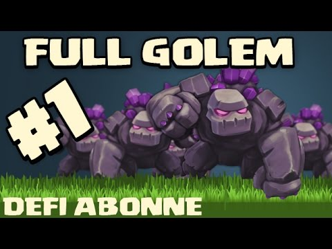 DEFI FULL GOLEM ! Clash of clans