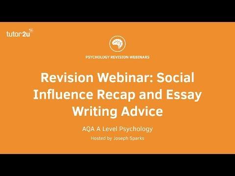 Revision Webinar: Social Influence Recap and Essay Writing Advice