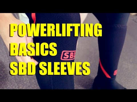 POWERLIFTING BASICS | How to put on SBD sleeves | (9/21/2014)