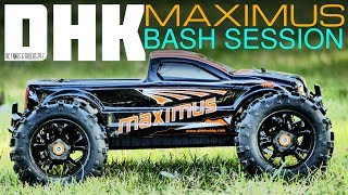 DHK MAXIMUS 1/8 Monster Truck - BASH SESSION! Such An Awesome Truck