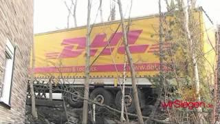 DHL-LKW wird von Firma Dietrich geborgen