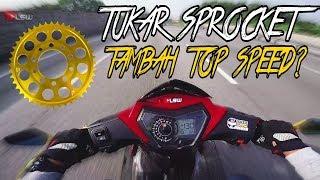 #384 TUKAR SPROCKET SYM VF3I   TAMBAH TOP SPEED??  LSWmotovlog