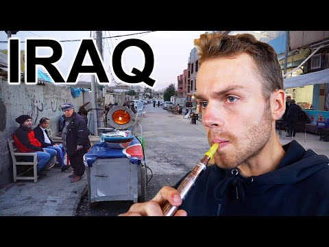 WALKING STREETS OF IRAQ (This Is Crazy) Smoking Shisha & Meeting Locals