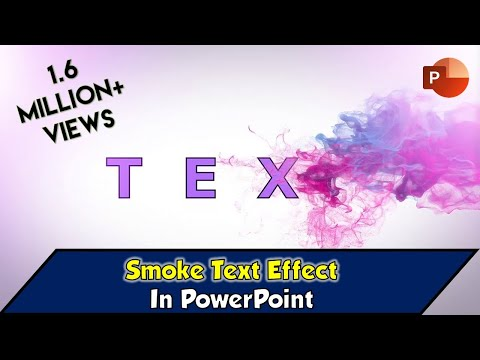 Efek Teks Asap Dalam Tutorial Microsoft PowerPoint 2016 | The Teacher