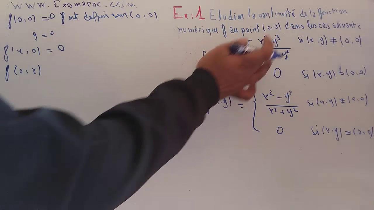 les fonctions deux variables : exercices corriges - YouTube