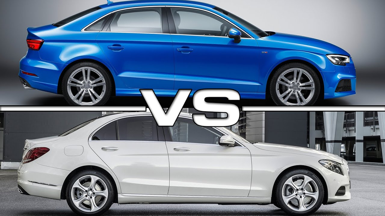 2017 audi a3 sedan vs mercedes c-class - youtube