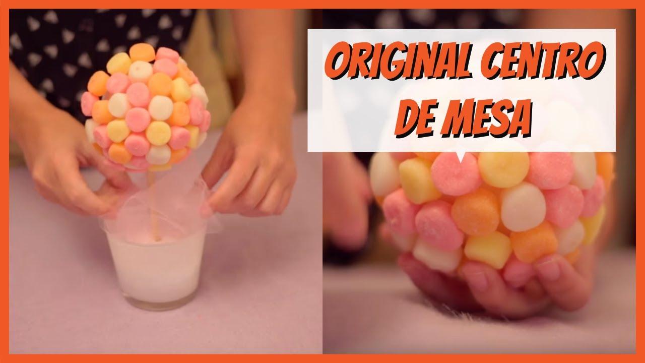 Centro De Mesa Con Dulces Decoración Para Fiestas Imujerhogar Youtube