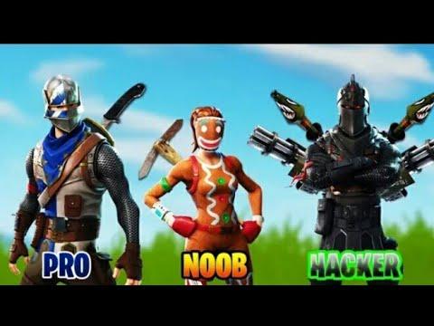 Noob Vs Pro Vs Hacker Fortnite Battle Royale Youtube