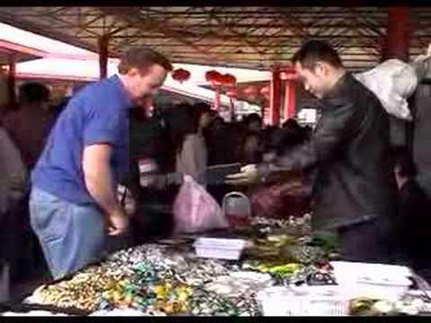 Travel China Beijing-Pan Jia Yuan antique market 北京潘家园古董市场