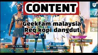 GEEKFAM MALAYSIA REQUEST LAGU KOPI DANGDUT | AUTO RIUH SATU LOBBY - FUNNY MOMENTS