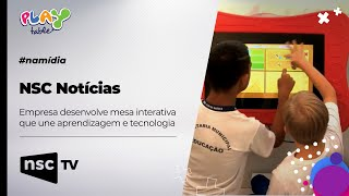NSC Noticias - Empresa de SC desenvolve mesa interativa que une aprendizagem e tecnologia
