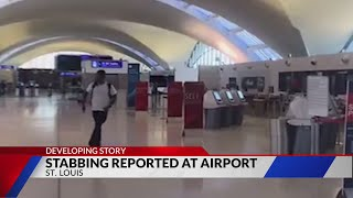 Passenger stabbed at St. Louis Airport while waiting for ride