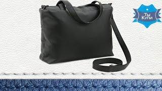 Видео обзор женской сумки-саквояж Сетчел черная