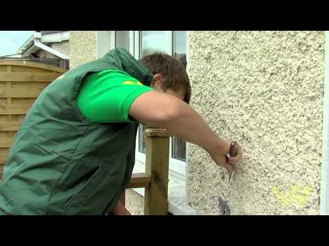 How to Paint an Exterior Pebbledashed Wall