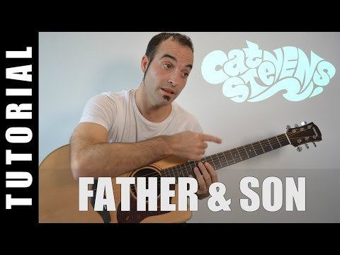 How to play Father and son / Cat Stevens Yusuf Islam EASY Tutorial CHORDS and LYRICS, TABS