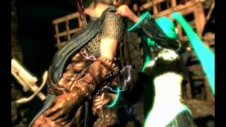 The Elder Scrolls V Skyrim - Hatsune miku Mod - Slow Motion Kills (Helgen Keep).webm