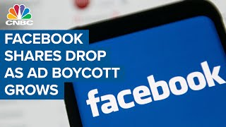 Facebook Shares Drop As More Companies Join Ad Boycott Over Hate Speech