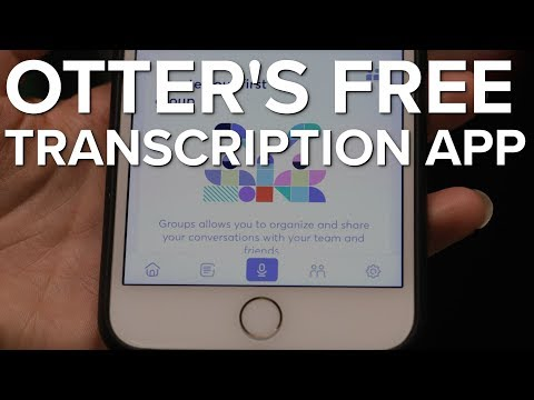 Otter's App Transcribes For Free