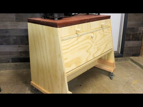 Build a Lathe Stand with Storage | DIY Woodworking