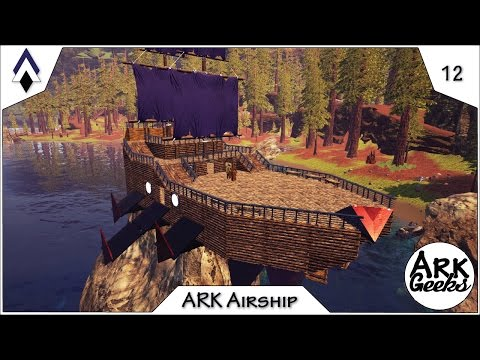 ARK Airships w/the Flying Rafts MOD : Ep12 : Geeks Patreon Server