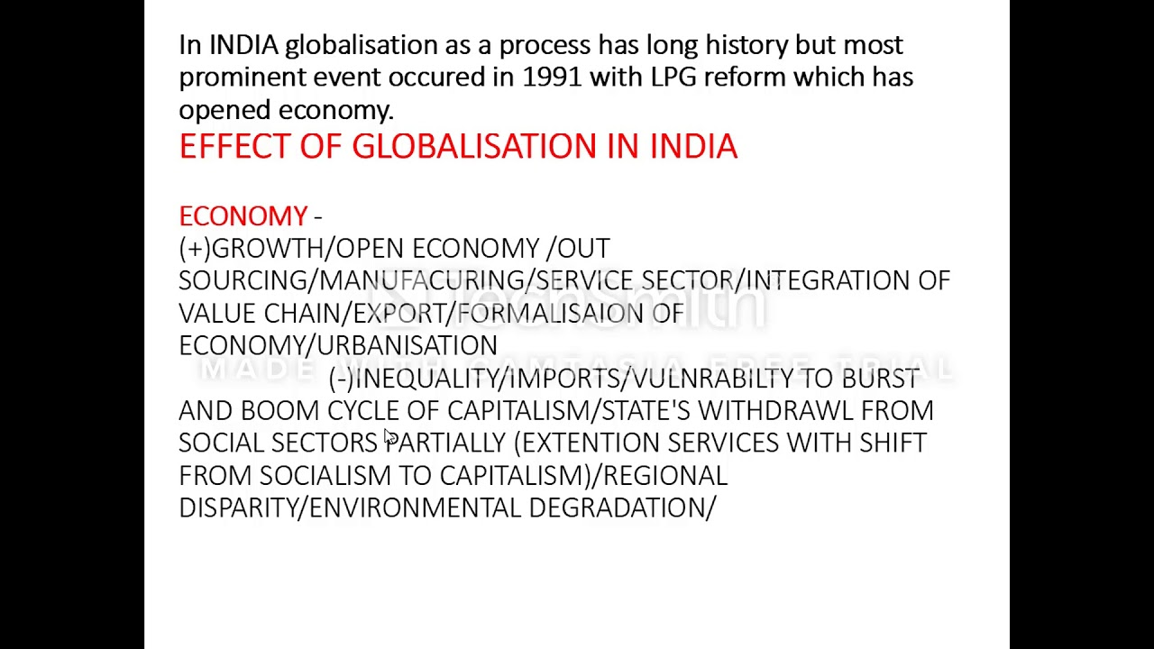 effects of globalization on indian society