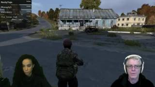 Dad teaches daughter to shoot in Dayz.
