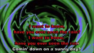 Have You Ever Seen the Rain - Creedence (karaoke)