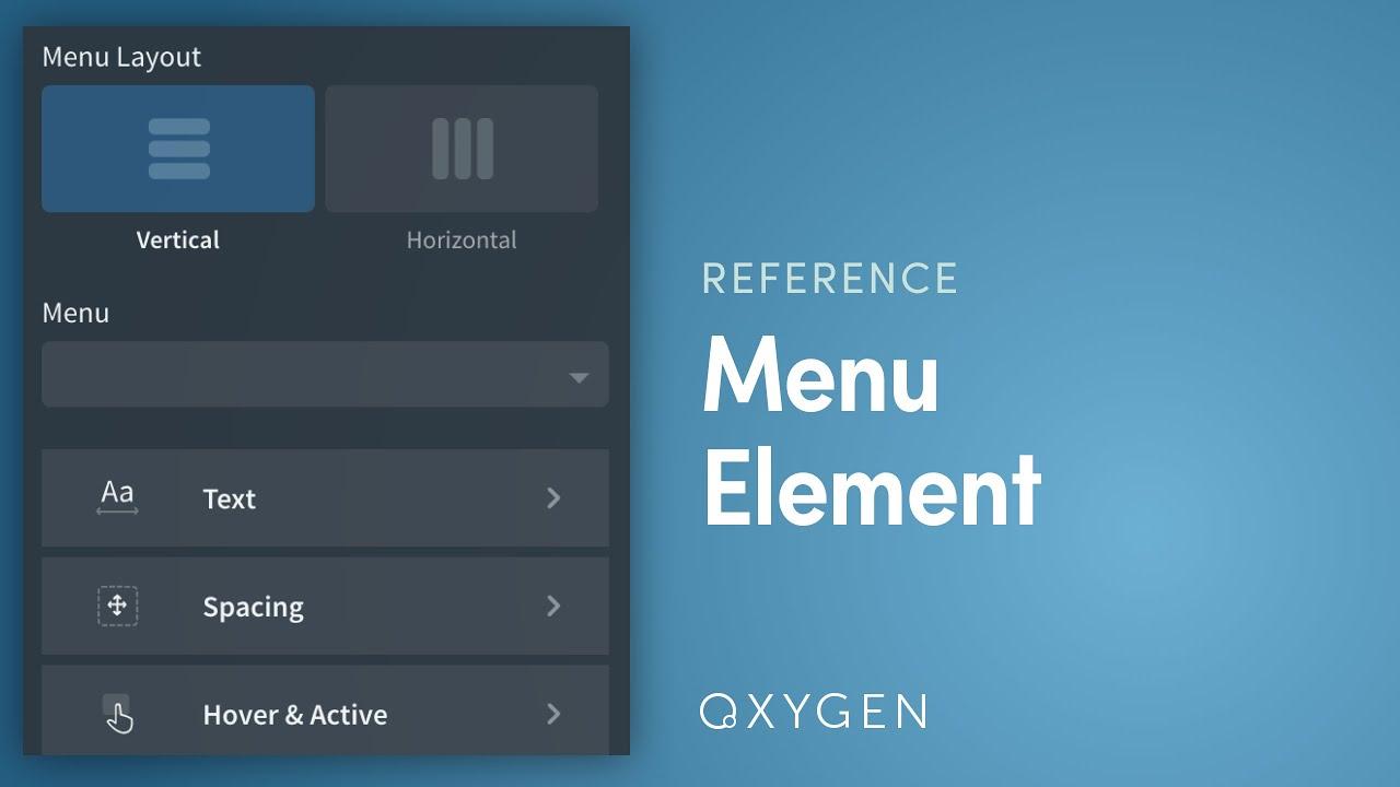 Menu - Oxygen