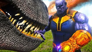 Ark Survival Evolved - THANOS vs Dinosaurs! ONE SNAP Literally Brings Extinction To Ark!