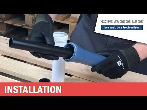 ▸Verbinde Abwasserrohr Muffe (DN50) Mit (DN40/32) Rohr - CRASSUS KOMBIADAPTER (PVC, HT, Geberit)