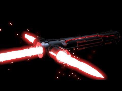 как сделать световой меч кайло рена