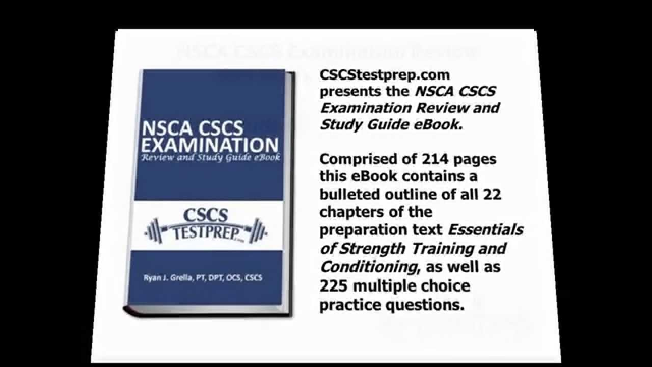 NSCA CSCS Examination Review and Study Guide eBook