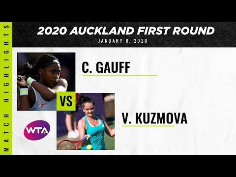 Coco Gauff vs. Viktoria Kuzmova | 2020 ASB Classic First Round | WTA Highlights