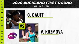 Coco Gauff vs. Viktoria Kuzmova | 2020 ASB Classic First Round | WTA Highlights