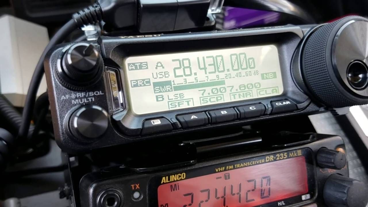Yaesu FT-891 on the 40 meter band. - YouTube