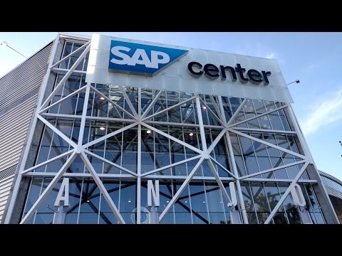 Game-day tour of SAP Center (San Jose Sharks - NHL) in San Jose, California