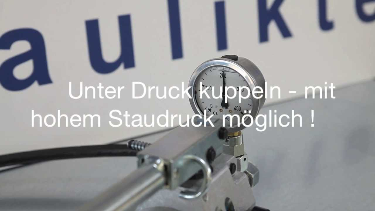 Lieblings Unter Druck kuppeln - Ernst Wagener Hydraulikteile GmbH - YouTube &GL_88