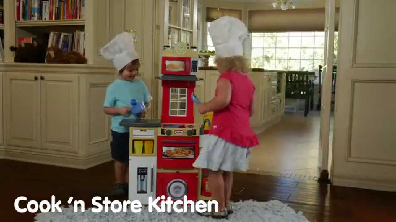 Little Tikes Cook n\' Store Kitchen - YouTube