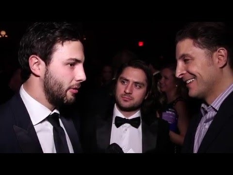 Derick Brassard and Mats Zuccarello at the NY Rangers Casino Night with Arthur Kade