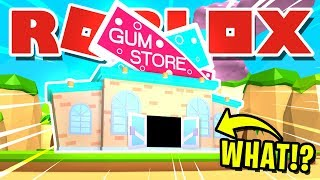 BREAKING INTO THE GUM SHOP IN ROBLOX BUBBLEGUM SIMULATOR! | You Wont Believe What We Saw [UPDATE 21]