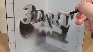 Drawing 3D Art Letters, Three Dimensional Space