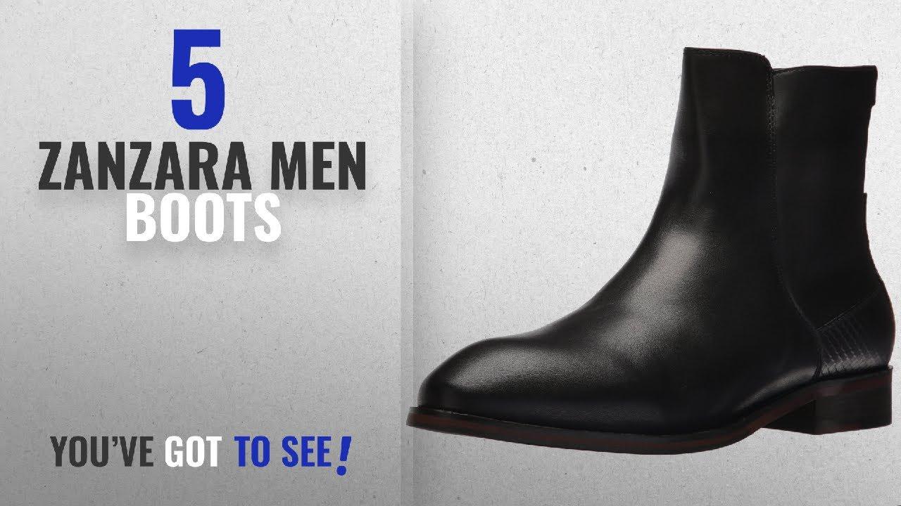 Top 10 Zanzara Men Boots [ Winter 2018 ]: Zanzara Men's Kalleo Chelsea  Boot, Black, 8.5 M US