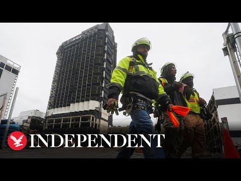 Live: Donald Trump's Atlantic City casino demolished