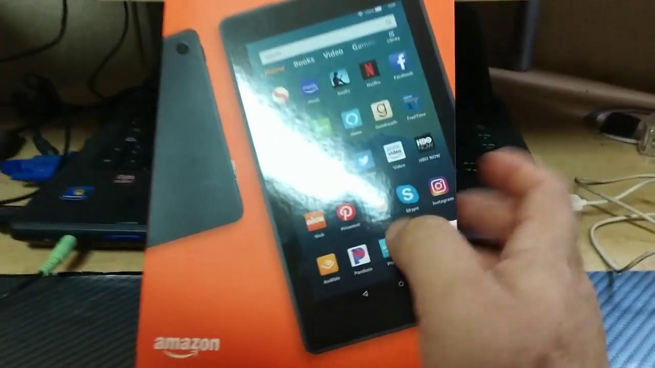 Unboxing Amazon Fire 7 2019 Review y como quitar anuncios Tablet - YouTube