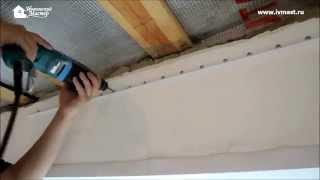 Установка тканевого натяжного потолка DESCOR