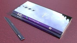 Most Futuristic Unusual Coolest Smartphone Concepts, Xperia Note Flex, Samsung wing,Moto Razr Fold